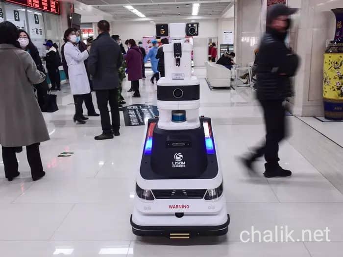 ضد عفونی با ربات در چین