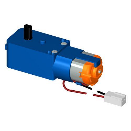 Blue-plastic-gearbox