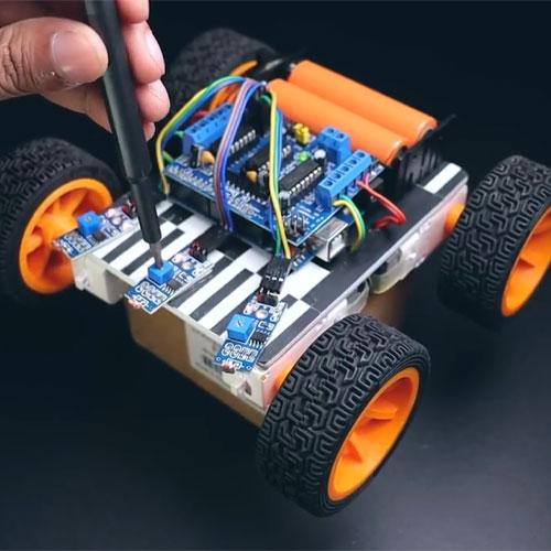 ربات نوریاب با آردوینو