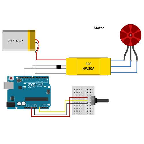 کنترل موتور براشلس با آردوینو